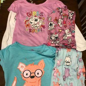 Other - 2 pairs of girls size 4 pajamas- joe boxer, Circo